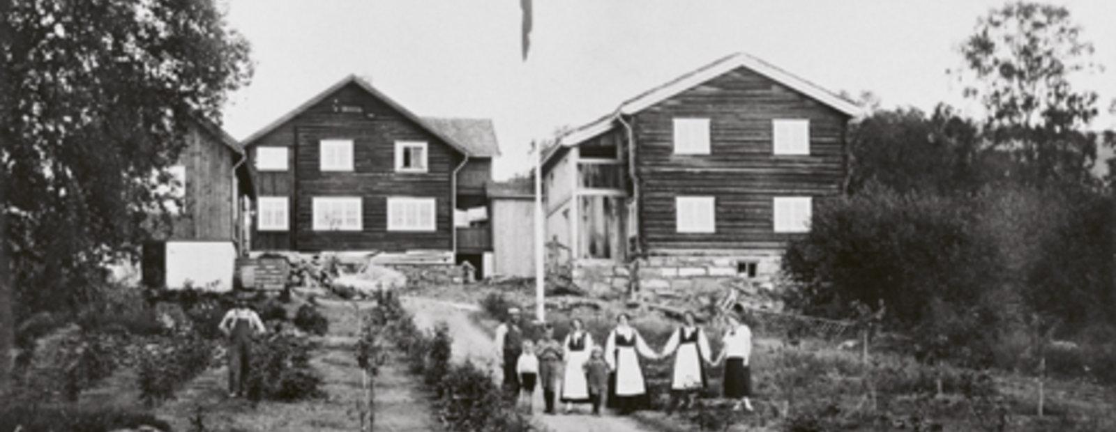 Sigrid Undsets hage, ca 1924