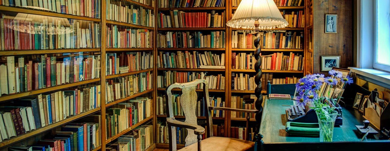 Sigrid Undset's studio.